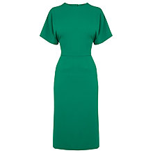 Buy Warehouse Open Back Midi Dress, Bright Green Online at johnlewis.com