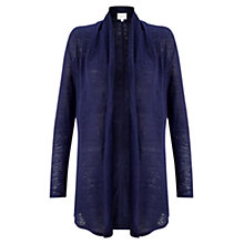 Buy East Linen Drape Front Cardigan Online at johnlewis.com