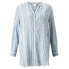 Buy East Stripe Cheese Cloth Shirt, Sky Online at johnlewis.com