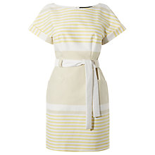 Buy Karen Millen Engineered Stripe Dress, Neutral Online at johnlewis.com