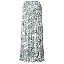 Buy East Vida Pleat Maxi Skirt, Ink Online at johnlewis.com