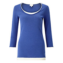 Buy East Double Layer Knit Top, Cobalt Online at johnlewis.com