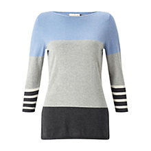 Buy East Colourblock Knit Top, Multi Online at johnlewis.com
