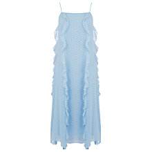 Buy Warehouse Ruffle Spot Midi Dress Online at johnlewis.com