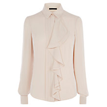 Buy Karen Millen Ruffle Blouse, Neutral Online at johnlewis.com