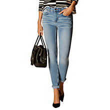 Buy Karen Millen Skinny Wash Jeans, Pale Denim Online at johnlewis.com
