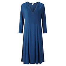 Buy East Pintuck Bib Dress, Indigo Online at johnlewis.com