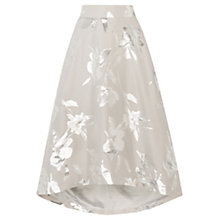 Buy Coast Aviero High Low Skirt, Silver Online at johnlewis.com
