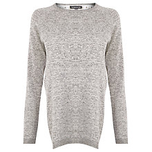 Buy Warehouse Mixed Fabric Jumper, Light Grey Online at johnlewis.com