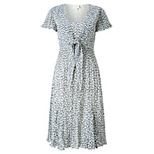 Buy East Vida Pleat Tie Front Dress, Ink Online at johnlewis.com