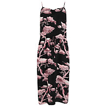 Buy Warehouse Silk Oriental Forest Dress, Purple Online at johnlewis.com