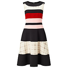 Buy Phase Eight Rosina Stripe Flared Dress, Multicoloured Online at johnlewis.com