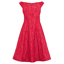 Buy Coast Kimberley Jacquard Dress, Raspberry Online at johnlewis.com