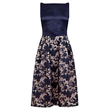 Buy Oasis Organza Midi Dress, Navy Online at johnlewis.com