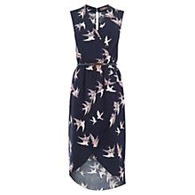 Buy Oasis Bird Wrap Midi Dress, Multi Online at johnlewis.com