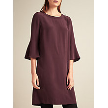 Buy Modern Rarity Silk A-Line Tuck Dress, Burgundy Online at johnlewis.com