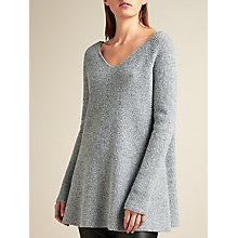 Buy Modern Rarity V-Back Oversize Jumper, Grey Online at johnlewis.com