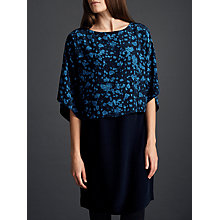Buy Modern Rarity Printed Double Layer Dress, Teal/Navy Online at johnlewis.com