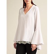 Buy Modern Rarity Silk Full Sleeve Blouse, Mist Online at johnlewis.com