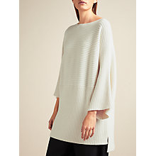Buy Modern Rarity Ribbed Kimono Knit Jumper, Cream Online at johnlewis.com