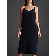 Buy Modern Rarity Silk Long Slip Dress, Navy Online at johnlewis.com