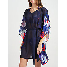 Buy John Lewis Tropical Print Kaftan, Navy/Multi Online at johnlewis.com