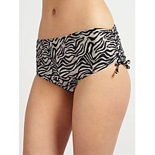Buy John Lewis Jungle Cat Ruched Bikini Shorts, Multi Online at johnlewis.com
