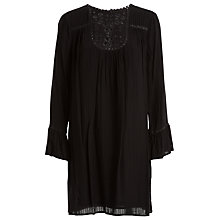 Buy Max Studio Embroidered Shadow Check Dress, Black Online at johnlewis.com
