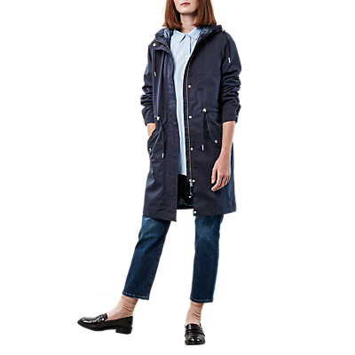 Parka London Pascal Transitional Water Resistant Parka, Navy