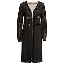 Buy Max Studio Jacquard Longline Cardigan, Black Online at johnlewis.com