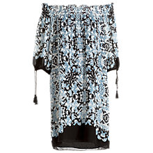 Buy Max Studio Off The Shoulder Printed Dress, Blue/Black Online at johnlewis.com