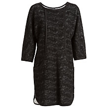 Buy Max Studio Tweed Effect Dress, Black Online at johnlewis.com