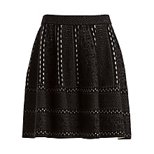 Buy Max Studio Jacquard Skirt, Black/Bone Online at johnlewis.com