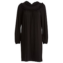 Buy Max Studio Frill Detail Jersey Dress, Black Online at johnlewis.com