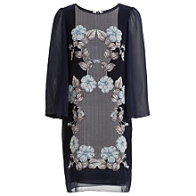 Buy Max Studio Placement Print Dress, Navy Online at johnlewis.com