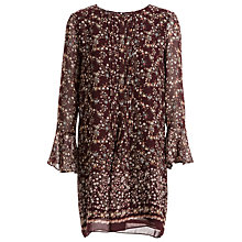 Buy Max Studio Floral Print Dress, Wine Online at johnlewis.com