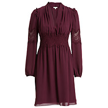 Buy Max Studio Lace Detail Dress, Wine Online at johnlewis.com