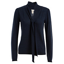 Buy Max Studio Tie Neck Jumper, Heather Blue Online at johnlewis.com