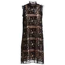 Buy Max Studio Sleeveless Square Lace Dress, Black Online at johnlewis.com