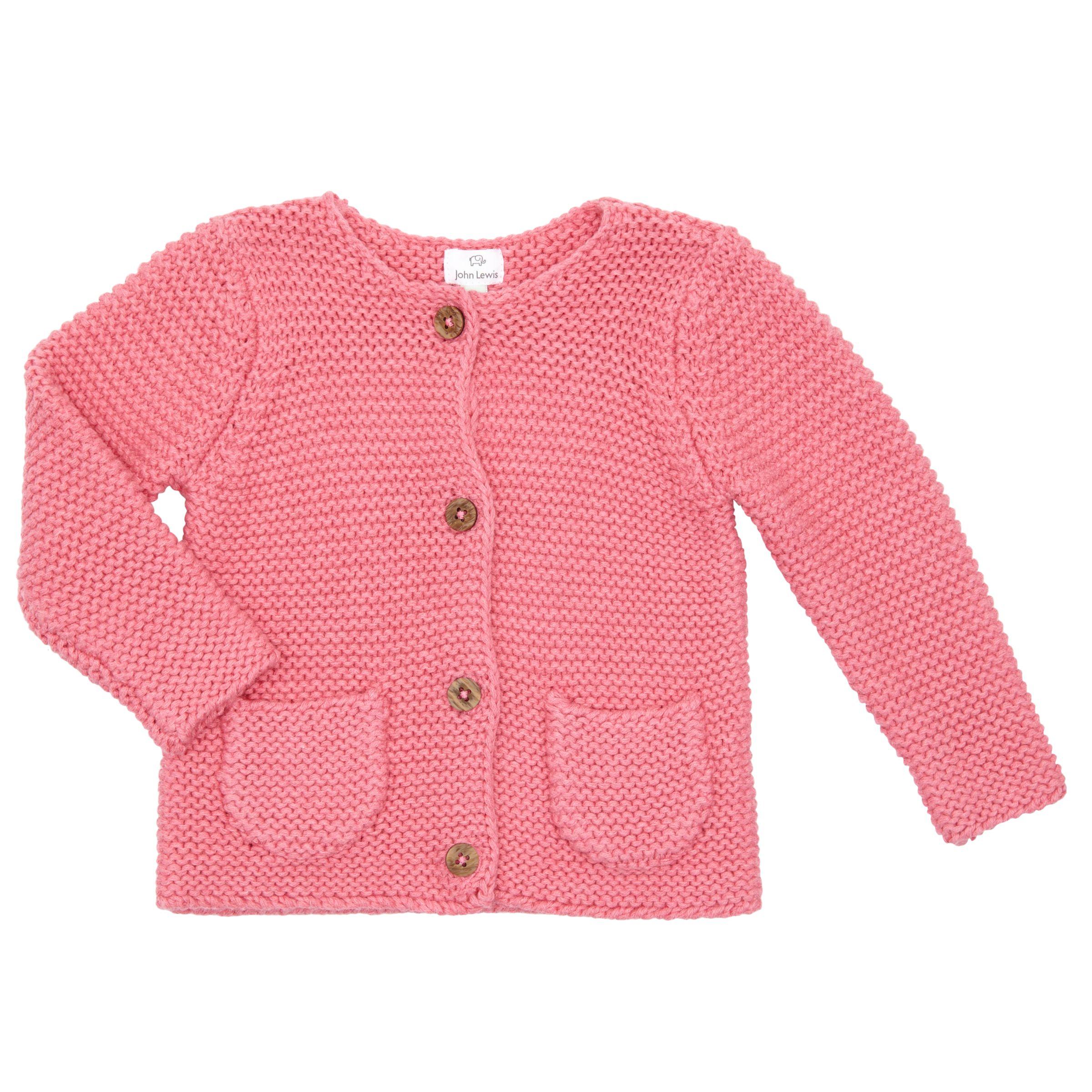 John Lewis John Lewis Baby Chunky Knit Cardigan