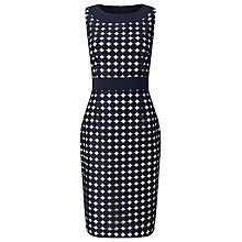 Buy Phase Eight Cecilia Dress, Navy/Oyster Online at johnlewis.com