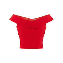 Buy Coast Dylano Structured Top, Red Online at johnlewis.com