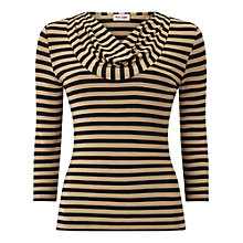 Buy Phase Eight Carrie Stripe Top, Black/Camel Online at johnlewis.com
