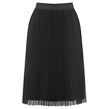 Buy Oasis Pleated Mesh Skirt, Black Online at johnlewis.com