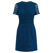 Buy Oasis Lace Shift Dress, Teal Blue Online at johnlewis.com