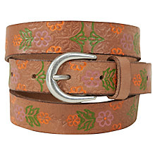 Buy White Stuff Embossed Floral Belt, Tan Online at johnlewis.com