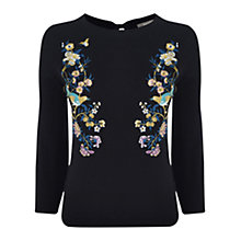 Buy Oasis V&A Embroidered Jumper Online at johnlewis.com