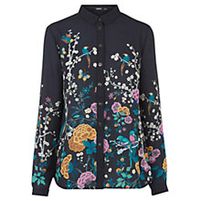 Buy Oasis V&A Print Shirt, Black/Multi Online at johnlewis.com