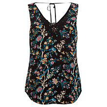 Buy Oasis V&A Print Vest, Black/Multi Online at johnlewis.com