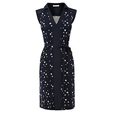 Buy Oasis Star Print Shirt Dress, Navy Online at johnlewis.com